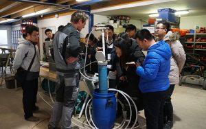 Interne Probenahmeschulung mit Beteiligung der chinesischen Partner der Züblin Umwelttechnik GmbH